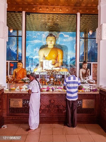 In July 2018, people were praying in the temple of Anuradhapura