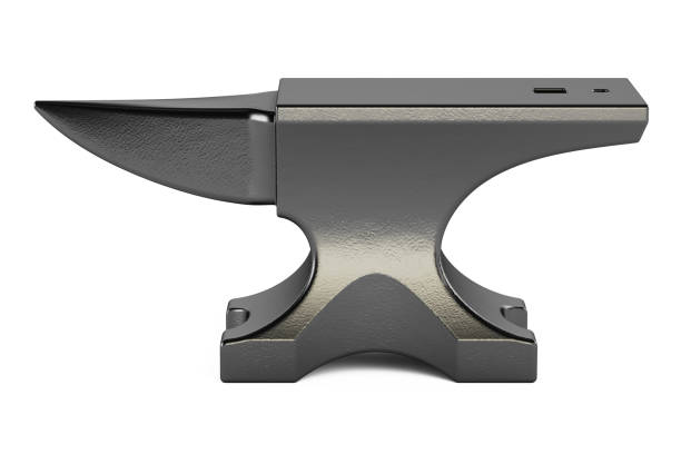 anvil closeup, 3D rendering isolated on white background anvil closeup, 3D rendering isolated on white background anvil stock pictures, royalty-free photos & images