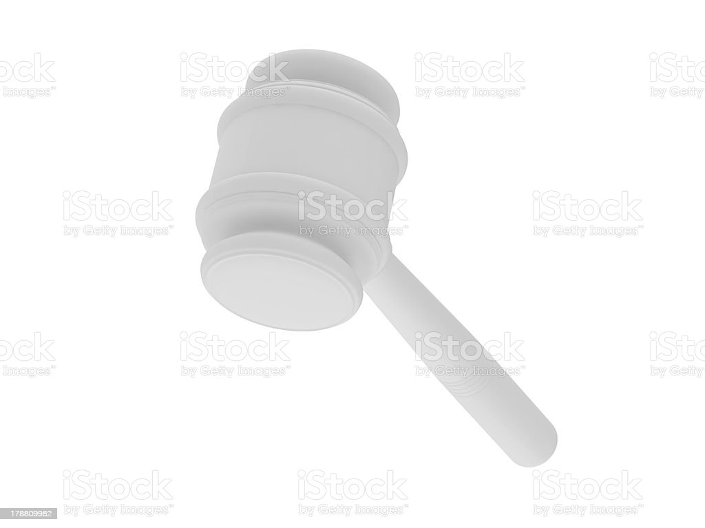 Anvil of the justice royalty-free stock photo