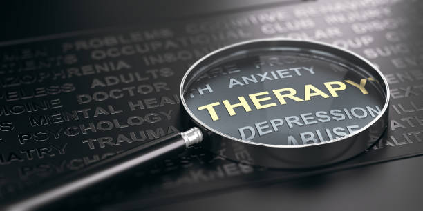 Anxiety or Depression Therapy Concept. stock photo