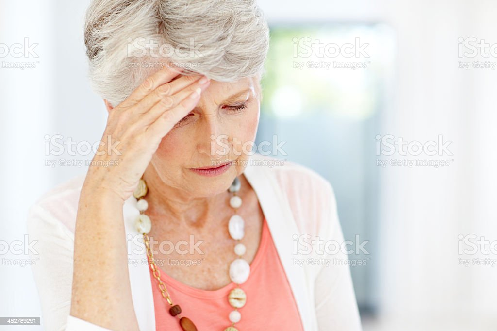 Anxiety over her financial security - Retirement/Money problems stock photo