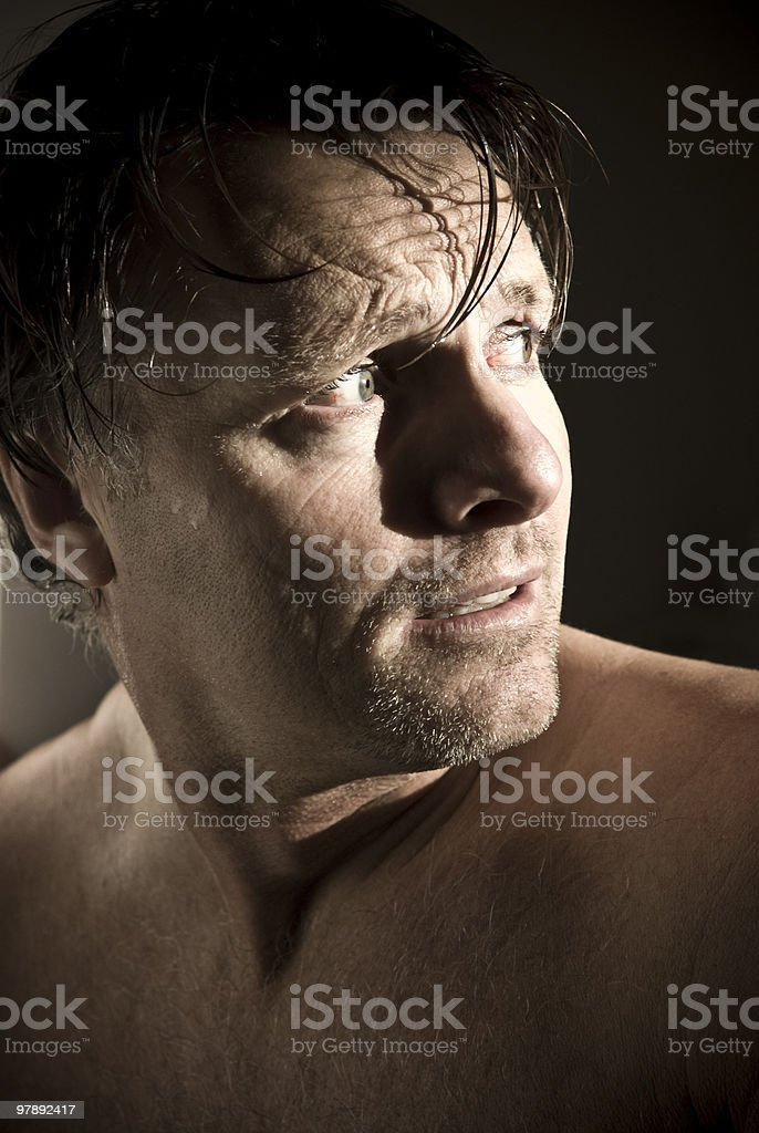 anxious and worried forties man. royalty-free stock photo