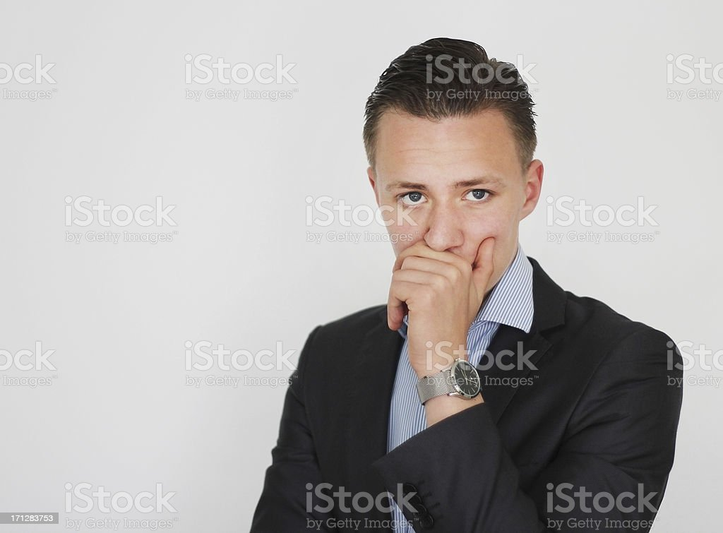 Anxious Business Investor royalty-free stock photo