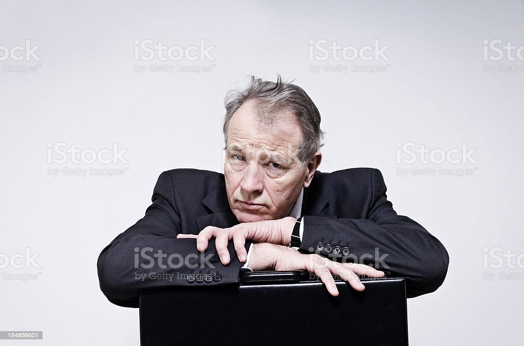 Anxious Businessman royalty-free stock photo