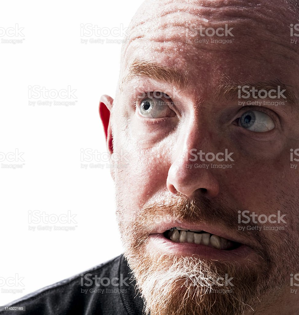 Anxious guy royalty-free stock photo