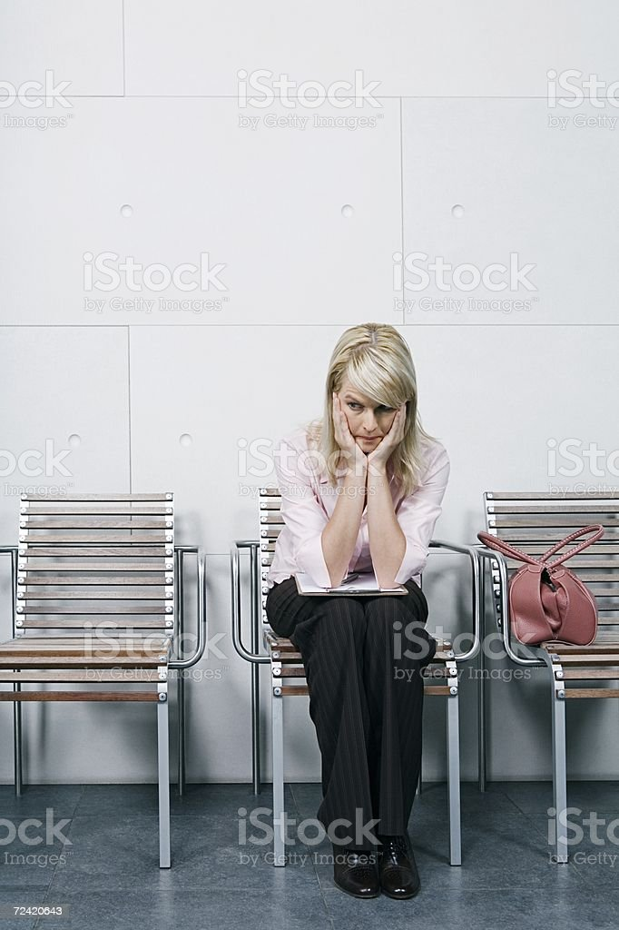 Anxious woman royalty-free stock photo