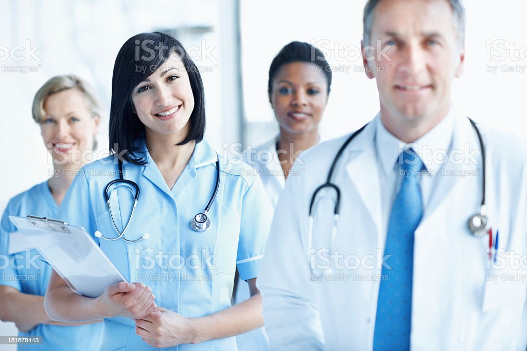 Any good doctor is backed by a great team royalty-free stock photo