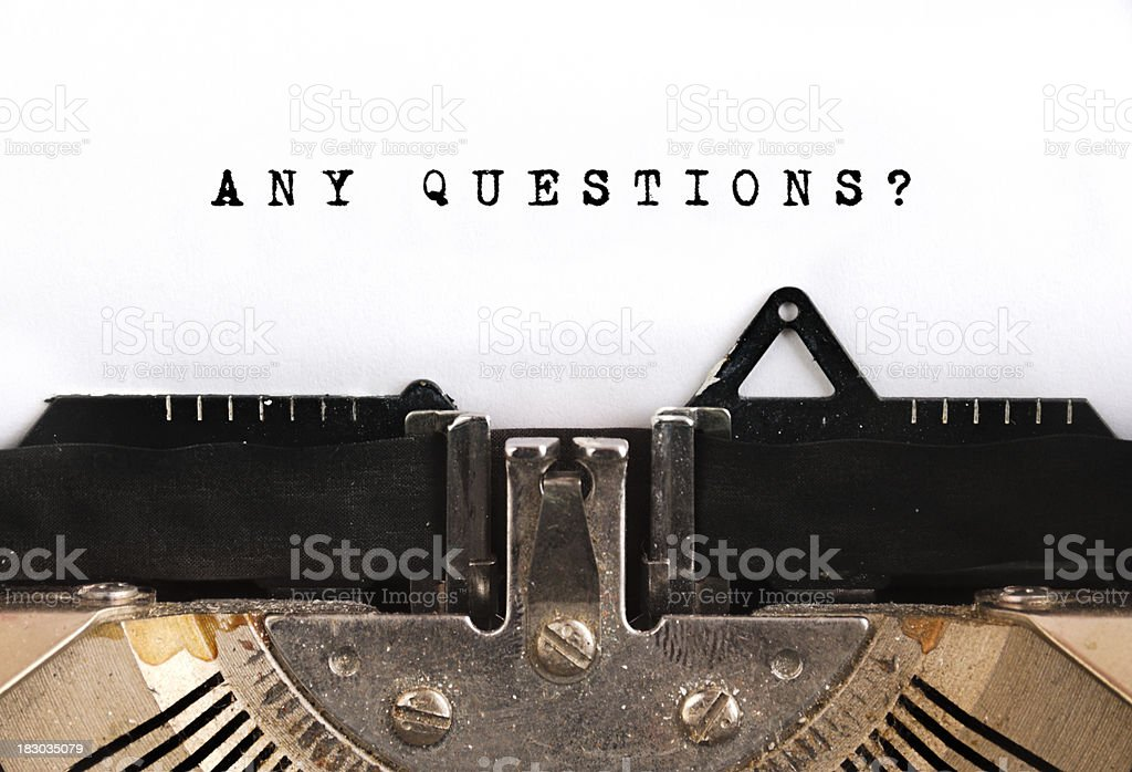 Any Questions royalty-free stock photo