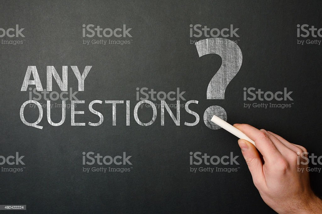 Any Questions? (Click for more) stock photo