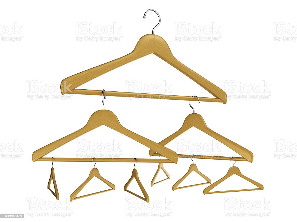 Any size hangers royalty-free stock photo