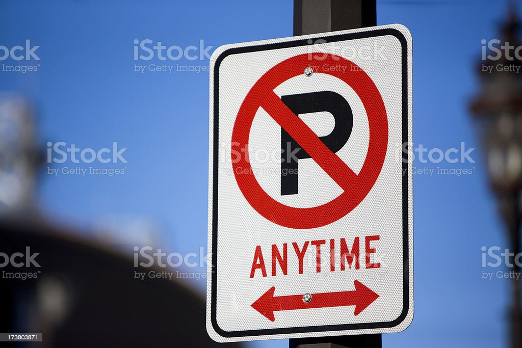'Any Time' road sign stock photo