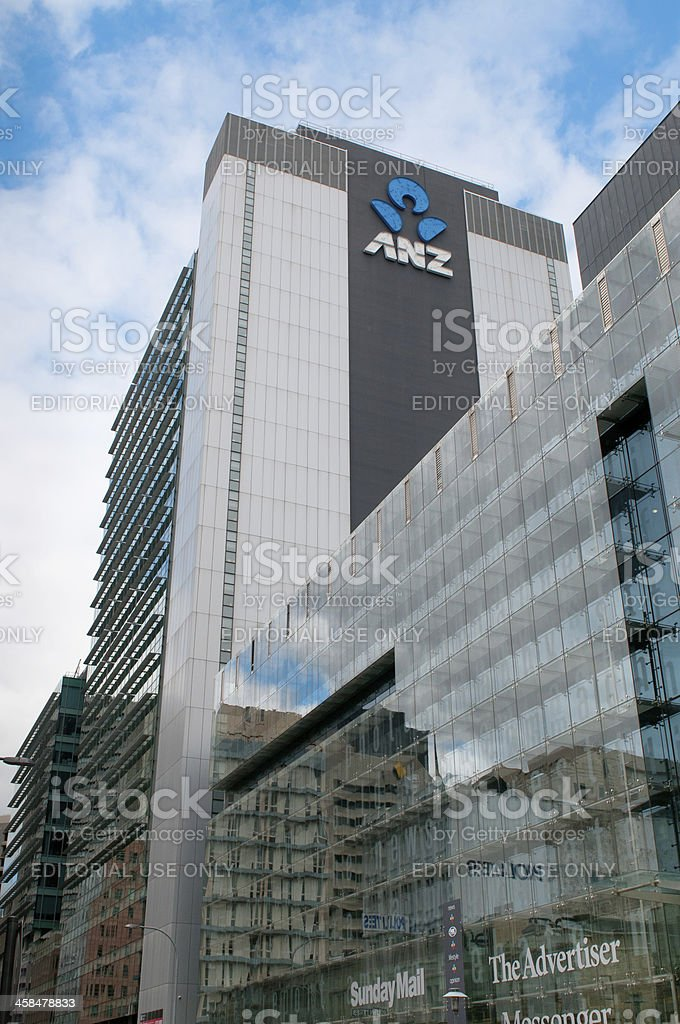 Anz Headquarters in Adelaide stock photo
