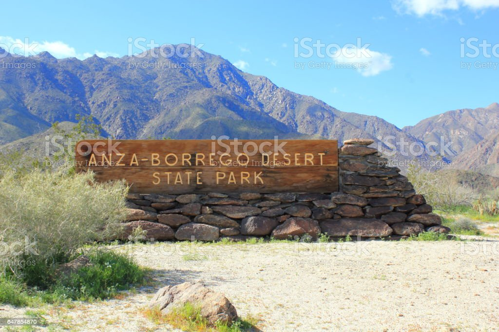 Anza Borrego Desert State Park Sign stock photo