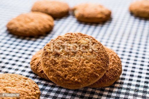 istock Anzac Biscuits on tablecloth. 815844578