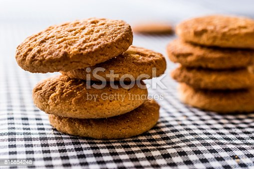 istock Anzac Biscuits on tablecloth. 815854248