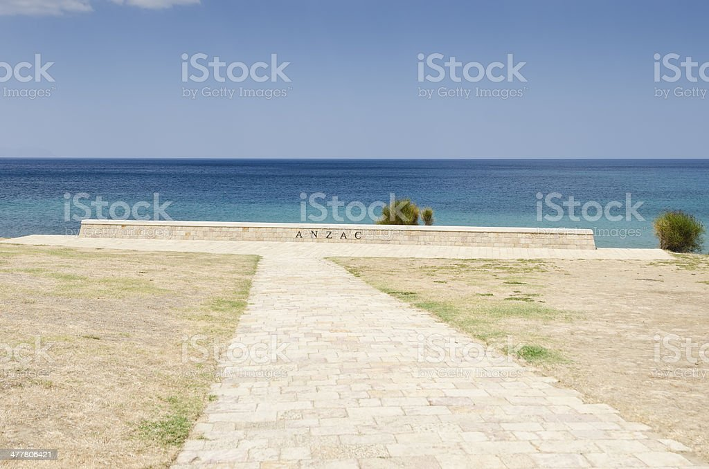 Anzac Cove at Gallipoli royalty-free stock photo