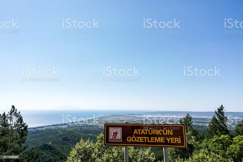 Anzac Cove Gallipoli Peninsula stock photo