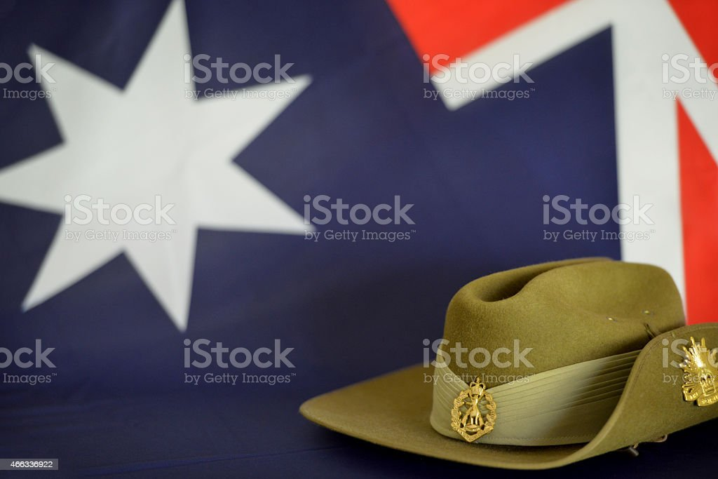 Anzac Day, honored in New Zealand and Australia for soldiers stock photo