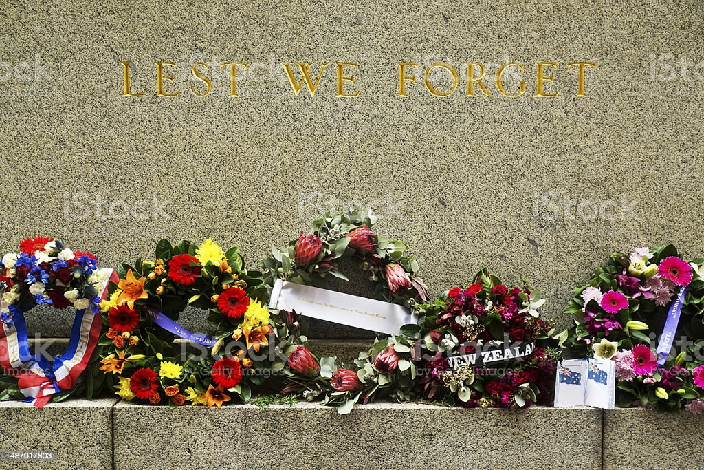 Anzac Day - Lest We Forget stock photo
