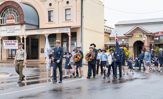 Anzac Day parade and march