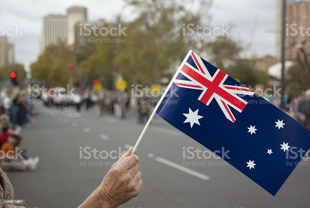 Anzac Day Parade South Australia stock photo