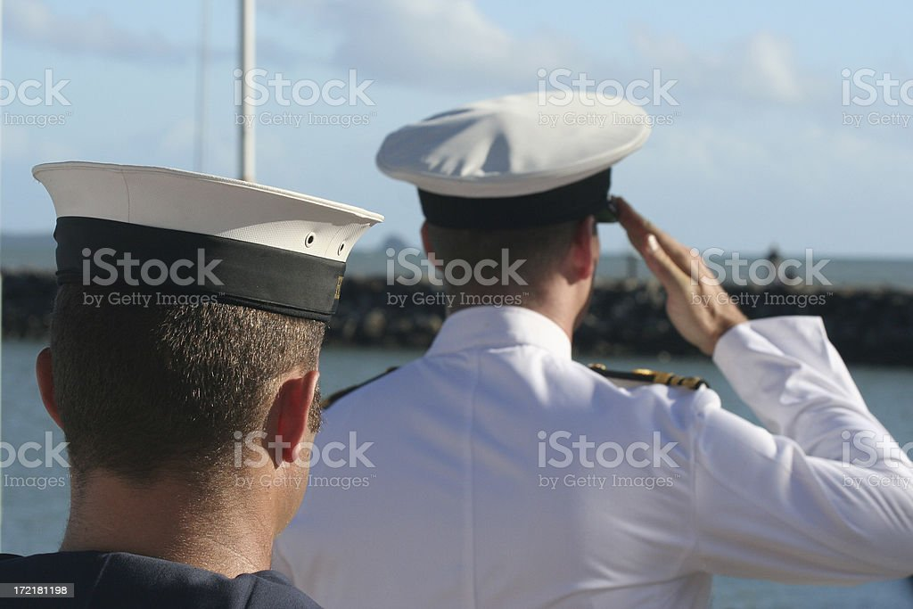 anzac day salute rememberance australia stock photo