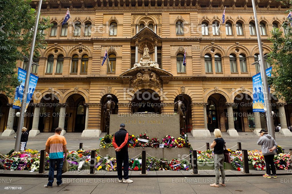 Anzac Day - The Cenotaph at Martin Place stock photo