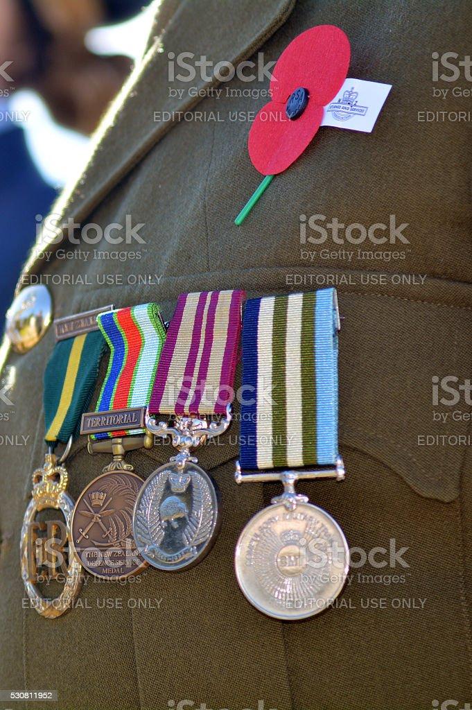 Anzac Day - War Memorial Service stock photo