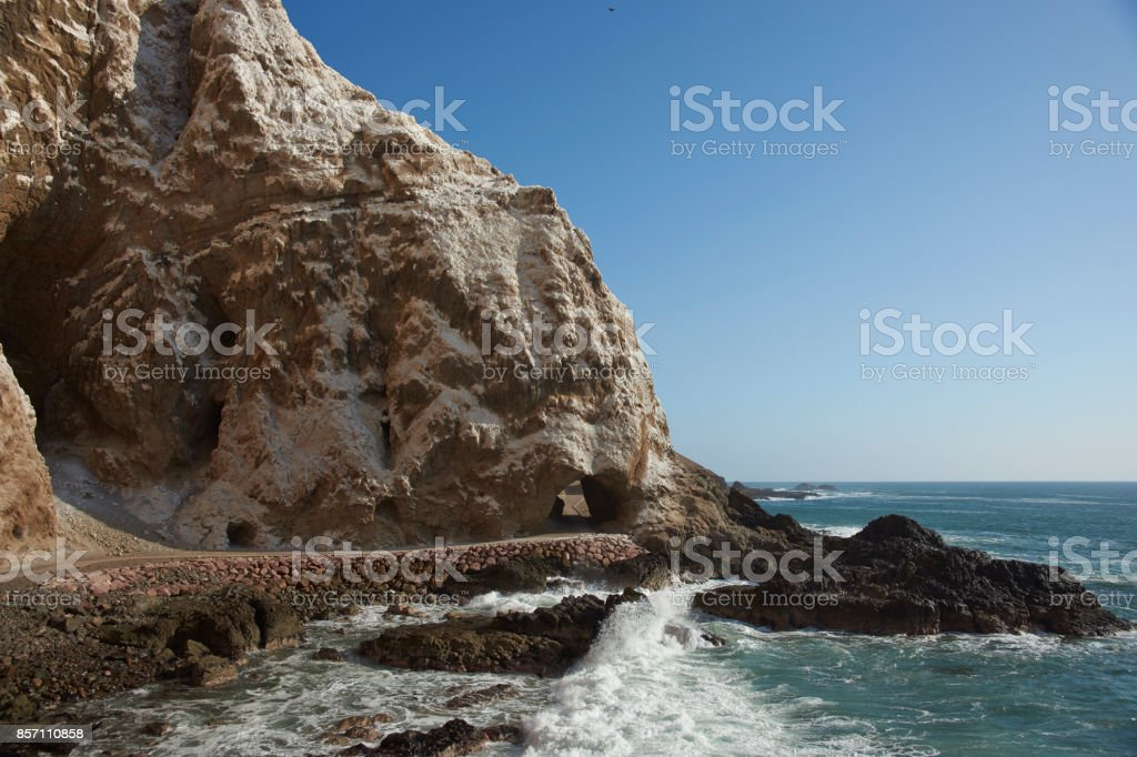 Anzota Caves at Arica, Chile stock photo