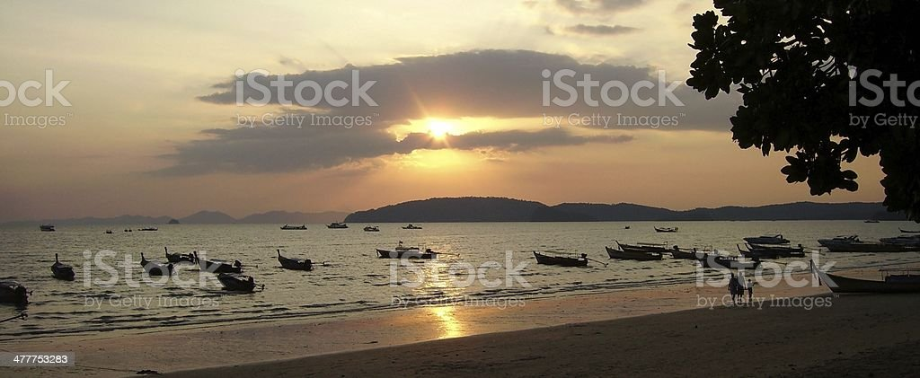 Ao Nang at sunset, Krabi - Thailand stock photo