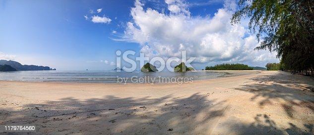 Panoramic view of Ao Nang beach in Krabi, Thailand