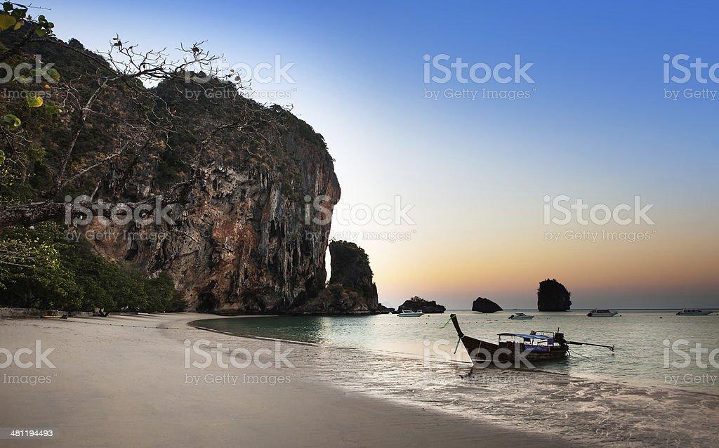 Ao nang beach, Railay, Krabi province, best beach in Thailand stock photo
