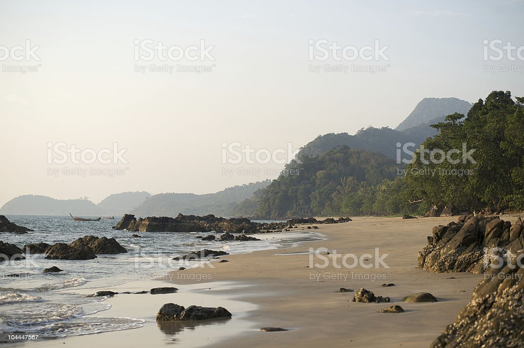 Ao Si Beach, Koh Jum Island stock photo