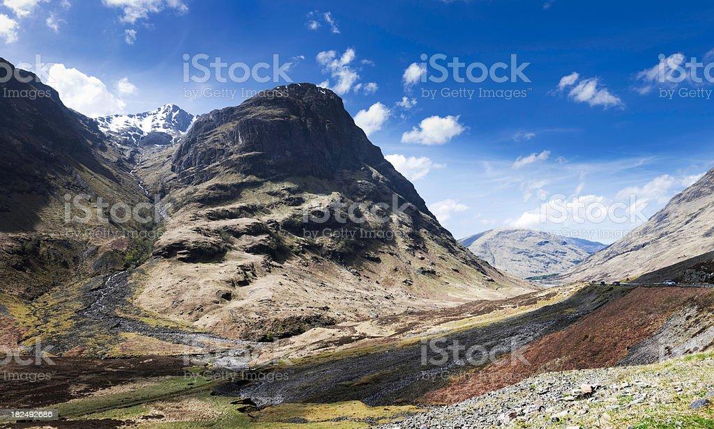 Aonach Dubh and the Pass of Glencoe stock photo