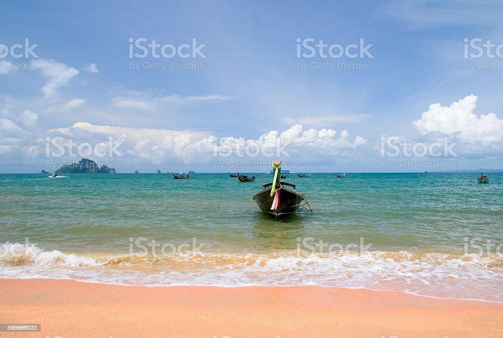 Aonang beach  in Krabi, Thailand stock photo