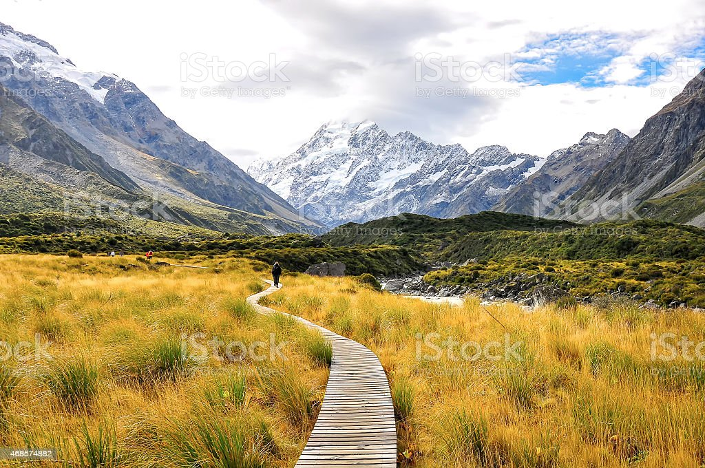 Aoraki Mount Cook National Park stock photo