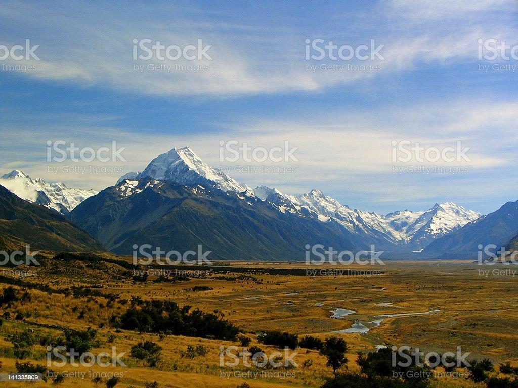 Aoraki Mount Cook royalty-free stock photo