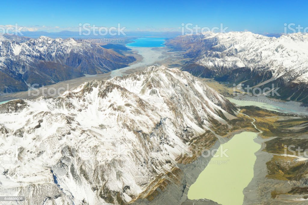 Aoraki/Mount Cook National Park stock photo