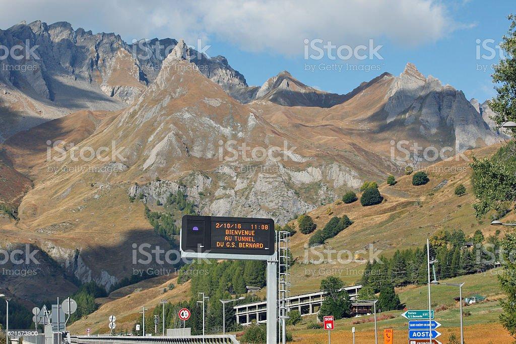 Aosta, Italy - Nature near the tunnel G.S.Bernard photo libre de droits