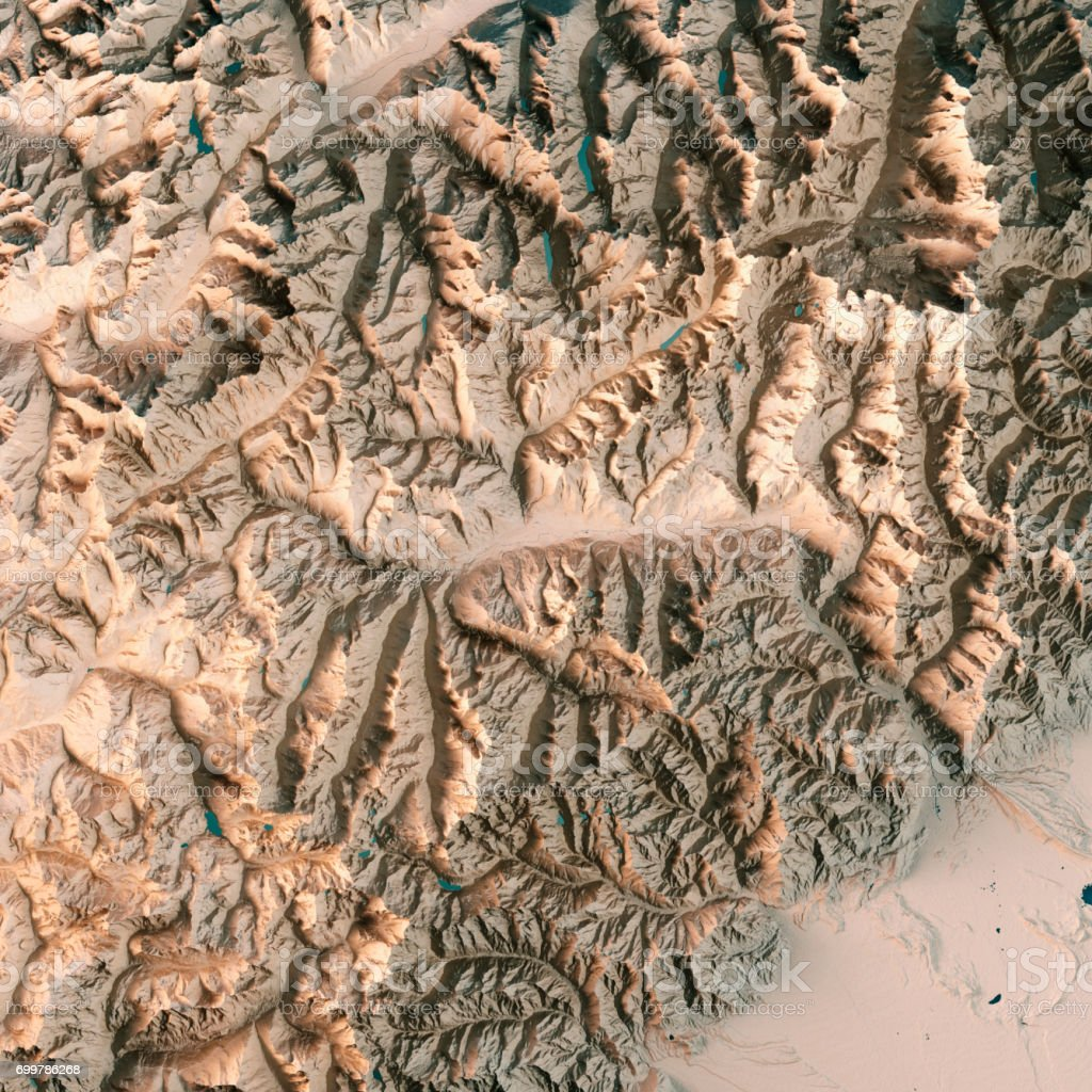 Aosta Valley State Italy 3d Render Topographic Map Neutral Stock