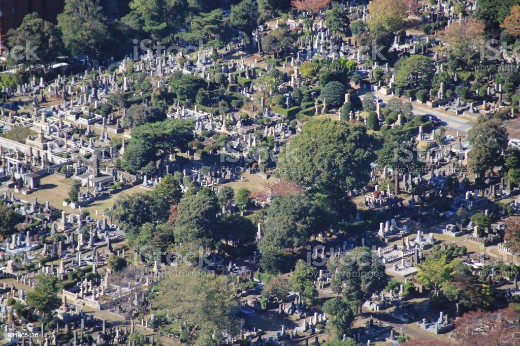 青山霊園、東京。 ストックフォト