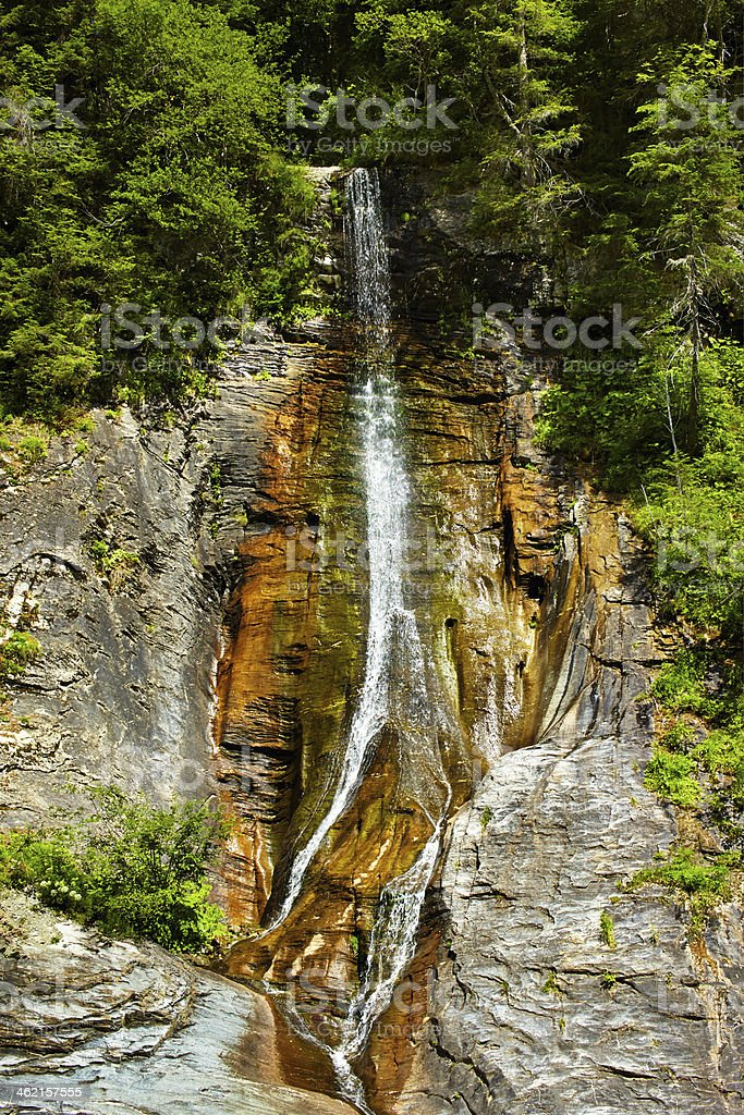 Apa Spanzurata waterfall in the Latoritei gorge stock photo