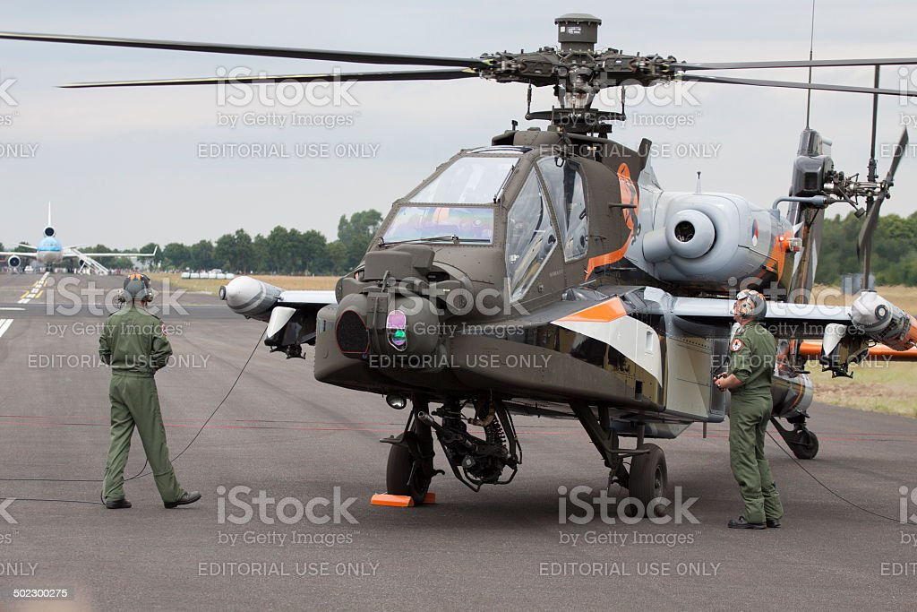 Apache AH-64D Helicopter. stock photo
