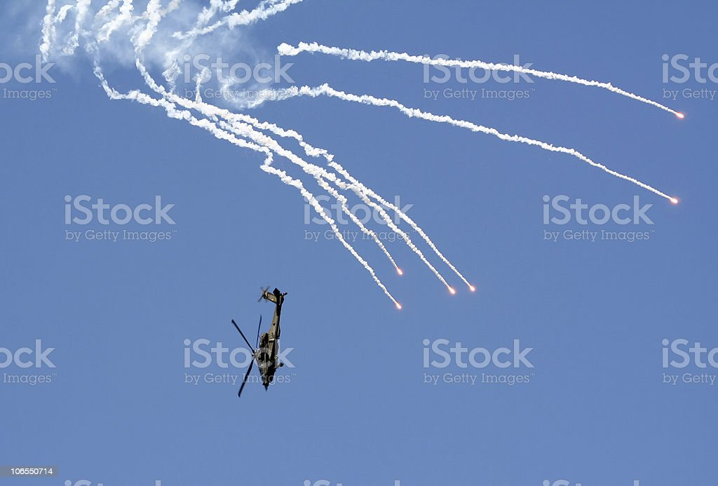 AH-64 Apache attack helicopter royalty-free stock photo