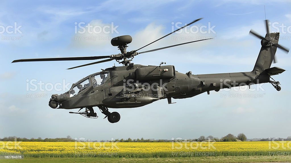 Apache Attack Helicopter stock photo