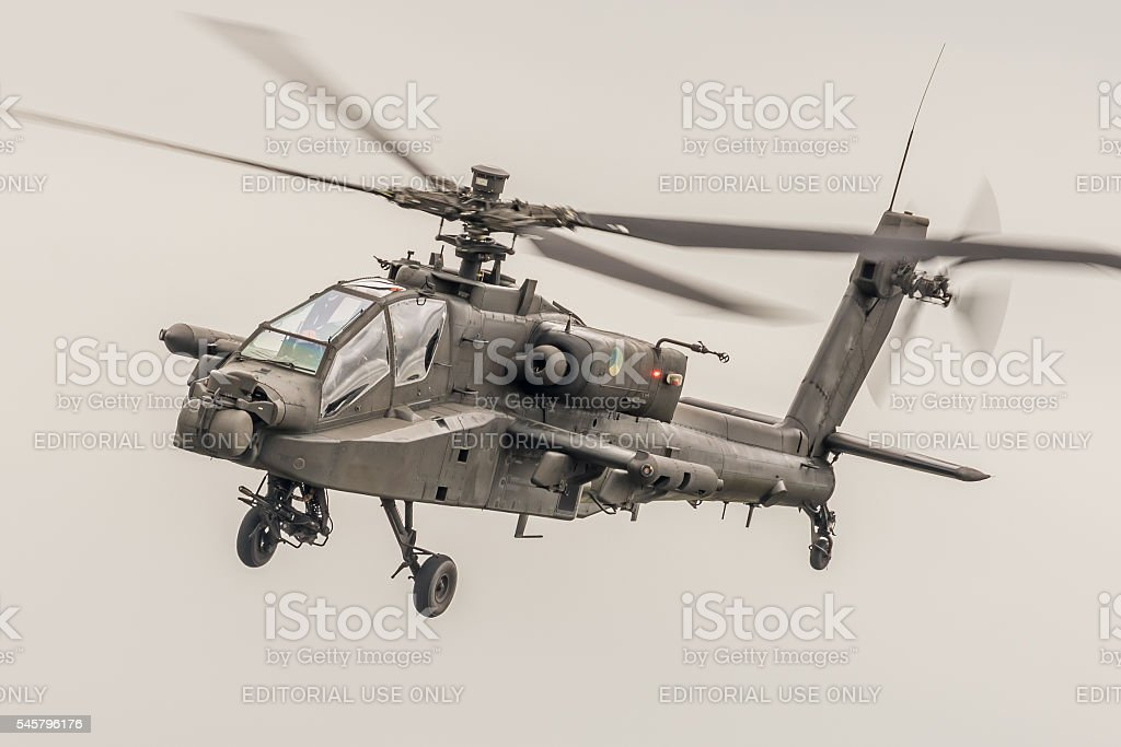 Apache helicopter gunship - Netherlands stock photo