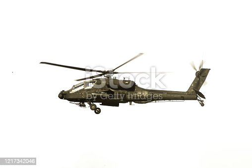 istock Apache Helicopter Over White 1217342046