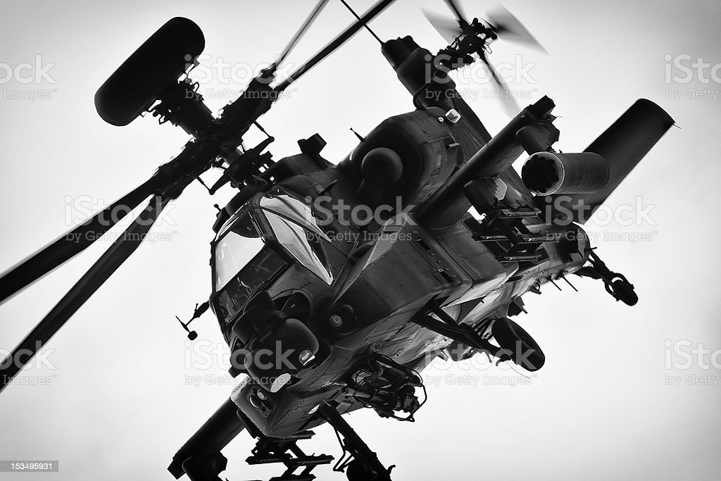 AH-64 MK1 Apache Helicopter royalty-free stock photo