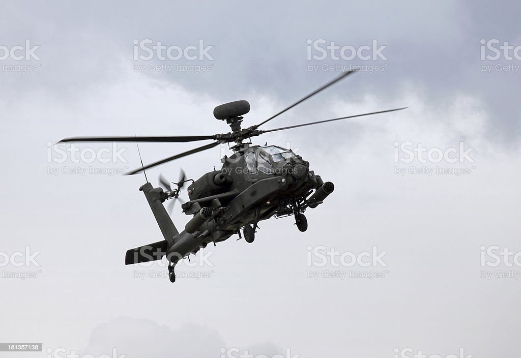 AH-64D Apache Helicopter stock photo