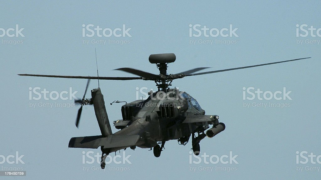 Apache Helicopter Rear View stock photo